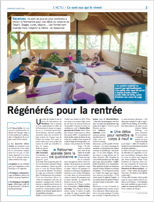 Un article dans Paris-Normandie